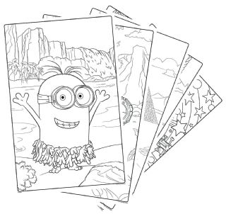 Crayola Despicable Me 3 Giant Coloring Pages Pad Minions 12.75x19 ... | 302x320